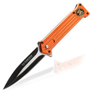 Linder Einhandmesser Arrow orange