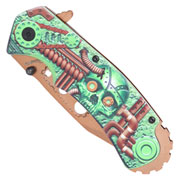 Einhandmesser 3D-Design Steam Punk