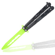 Black Ice Butterfly-Trainingsmesser Green Balisong grün/schwarz