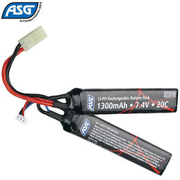 ASG LiPo Akku 7,4V 1300mAh 20C Two-Panel