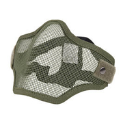 Fidragon Metall Mesh Airsoft Gittermaske Lower Face halb oliv