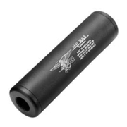 King Arms Navy Seals Aluminium Silencer 110mm 14mm- / 14mm+ schwarz