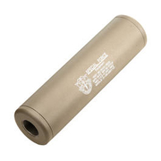 King Arms Special Force Aluminium Silencer 110mm 14mm- / 14mm+ Dark Earth
