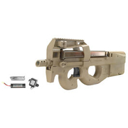 Jing Gong FN P90 TR Komplettset S-AEG 6mm BB Dark Earth Tan