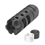 G&P MOTS Style Aluminium Flash-Hider schwarz 14mm+ / 14mm-