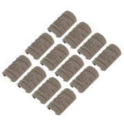 UTG Low Profile Max Security Polymer Rail Covers (12 Stück) Flat Dark Earth
