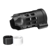 G&P Standard Iron Bars Style Aluminium Flash-Hider schwarz 14mm+ / 14mm-