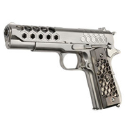 Wei-ETech M1911 Hex Cut Version Punisher Vollmetall GBB 6mm BB Satin-Chrome