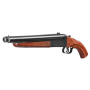 Haw San FS-0521 Double Barrel Vollmetall Gas Shotgun 6mm BB Echtholz-Version