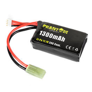 Phantom Airsoft LiPo Akku 11,1V 1300mAh 20C Shorty Small-Type