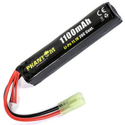 Phantom Airsoft LiPo Akku 11,1V 1100mAh 20C Stock-Tube Type