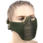 WoSport WST Airsoft Gittermaske Lower Face oliv