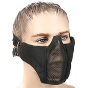WoSport WST Airsoft Gittermaske Lower Face schwarz