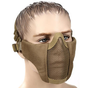 WoSport WST Airsoft Gittermaske Lower Face Tan