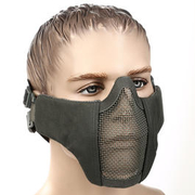 WoSport WST Airsoft Gittermaske Lower Face grau