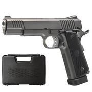 Well M1911 Hi-Capa 5.1 TAC2 Vollmetall CO2 Blowback 6mm BB grau inkl. Koffer