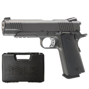 Well M1911 TAC Vollmetall CO2 Blowback 6mm BB grau inkl. Koffer