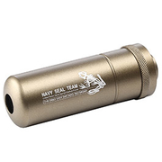 G&G Navy Seal Skull Frog Alumininium Suppressor 14mm- Desert Tan
