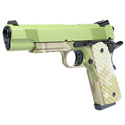 Nuprol Raven M1911 MEU Railed Vollmetall GBB 6mm BB Green / Camo