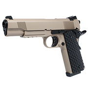 Nuprol Raven M1911 MEU Railed Vollmetall GBB 6mm BB Tan