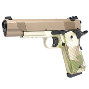 Nuprol Raven M1911 MEU Railed Vollmetall GBB 6mm BB Tan / Camo