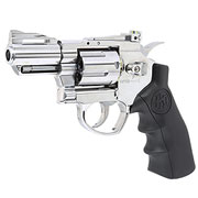 KLI Titan 2,5 Zoll Revolver Vollmetall CO2 6mm BB Chrome-Finish