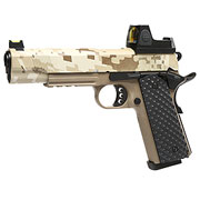 Nuprol Raven M1911 MEU mit HD5141 LPZ Vollmetall GBB 6mm BB Digital Desert / Tan
