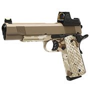 Nuprol Raven M1911 MEU mit HD5141 LPZ Vollmetall GBB 6mm BB Tan / Digital Desert