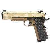 Nuprol Raven M1911 MEU Railed Vollmetall GBB 6mm BB Digital Desert / Tan