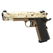 Nuprol Raven M1911 MEU Vollmetall GBB 6mm BB Digital Desert / Tan