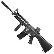 SRC SR4-16 RIS Carbine Fixed Stock Vollmetall CO2 Non-Blow-Back 6mm BB schwarz