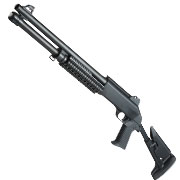 Nuprol Sierra Storm Bravo Tactical Tri-Barrel Shotgun Flex Stock Polymer Springer 6mm BB schwarz