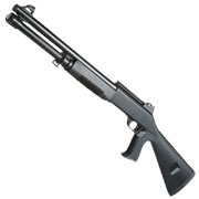 Nuprol Sierra Storm Alpha Tri-Barrel Shotgun Full Stock Polymer Springer 6mm BB schwarz