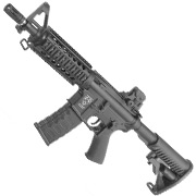 APS M4 CQB ASR-Series Vollmetall BlowBack S-AEG 6mm BB schwarz