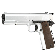 King Arms M1911-A1 Cal. 45 Vollmetall GBB 6mm BB silber