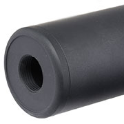 MET Aluminium Smooth Suppressor Silencer 190 x 35mm 14mm+ / 14mm- schwarz