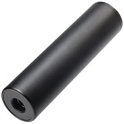 MET Aluminium Smooth Suppressor Silencer 130 x 35mm 14mm+ / 14mm- schwarz