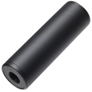 MET Aluminium Smooth Suppressor Silencer 100 x 32mm 14mm+ / 14mm- schwarz