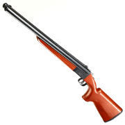 Haw San FS-0521 Full Size Long Double Barrel Vollmetall Gas Shotgun 6mm BB Echtholz-Version
