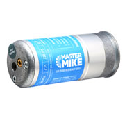 Airsoft Innovations Master Mike 40mm Vollmetall Hülse / Einlegepatrone f. 150 6mm BBs blau / silber