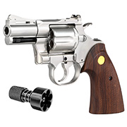 King Arms .357 Python 2.5 Zoll Revolver Vollmetall Gas 6mm BB Chrome-Finish