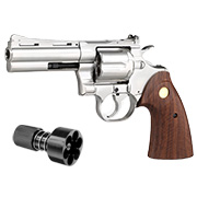 King Arms .357 Python 4 Zoll Revolver Vollmetall Gas 6mm BB Chrome-Finish