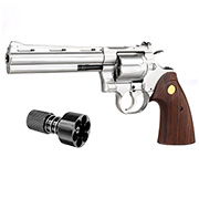 King Arms .357 Python 6 Zoll Revolver Vollmetall Gas 6mm BB Chrome-Finish