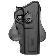 Amomax Tactical Holster Polymer Paddle für Browning Hi-Power Rechts schwarz