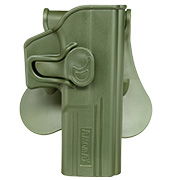 Amomax Tactical Holster Polymer Paddle für Glock 17 / 22 / 31 Rechts oliv