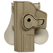 Amomax Tactical Holster Polymer Paddle für Airsoft G-Modelle Links Flat Dark Earth