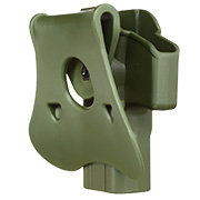 Amomax Tactical Holster Polymer Paddle für Airsoft G-Modelle Rechts oliv