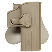 Amomax Tactical Holster Polymer Paddle für CZ P-07 / CZ P-09 Rechts Flat Dark Earth
