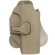 Amomax Tactical Holster Polymer Paddle für Walther P99 Rechts Flat Dark Earth
