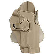 Amomax Tactical Holster Polymer Paddle für Sig Sauer P220 Serie Rechts Flat Dark Earth